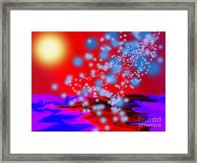 Cosmic Shower Framed Print by Trevor Fellows