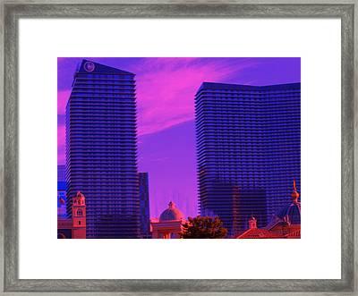 Cosmopolitan Sunset Framed Print