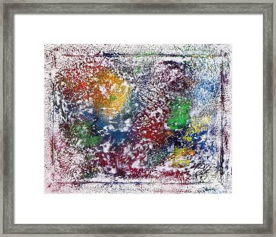 Framed Print featuring the painting Cosmos by Alys Caviness-Gober