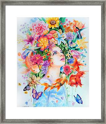 Cosmos Framed Print by Callie Fink