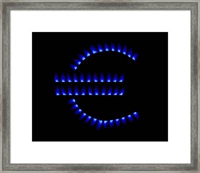 Cost Of Gas, Conceptual Image Framed Print by Victor De Schwanberg
