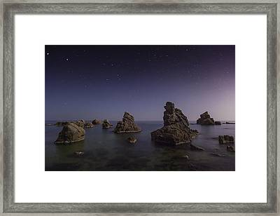 Costa Brava Night Framed Print by Xose Casal Photography