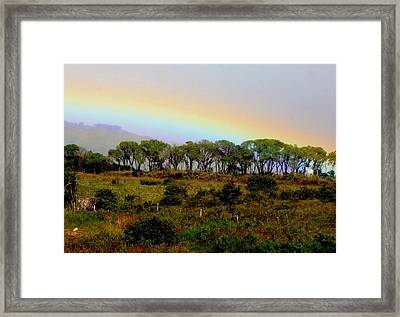 Framed Print featuring the photograph Costa Rica Rainbow by Myrna Bradshaw