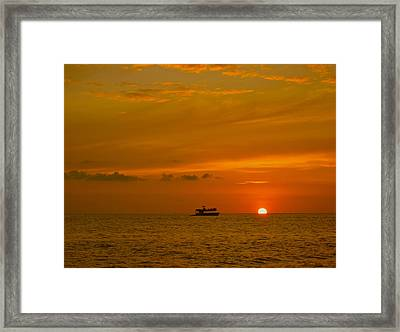 Framed Print featuring the photograph Costa Rica Sunset by Eric Tressler