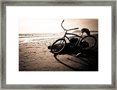 Costa Rican Beach Cruiser Framed Print by Anthony Doudt
