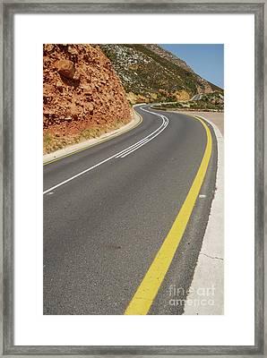 Costal Road Framed Print by Sami Sarkis