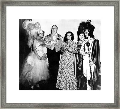 Costume Party At San Simeon. Irene Framed Print by Everett