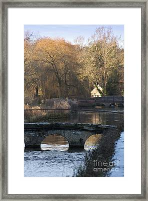 Cotswold River Scene Framed Print by Andrew  Michael