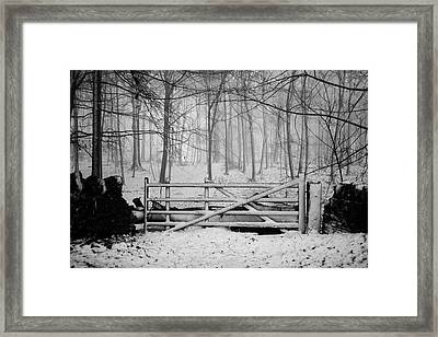 Cotswolds Winter Framed Print