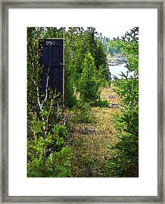Cottage 999 Framed Print by Cyryn Fyrcyd