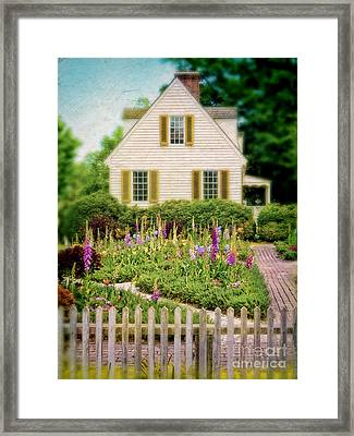 Cottage And Garden Framed Print by Jill Battaglia