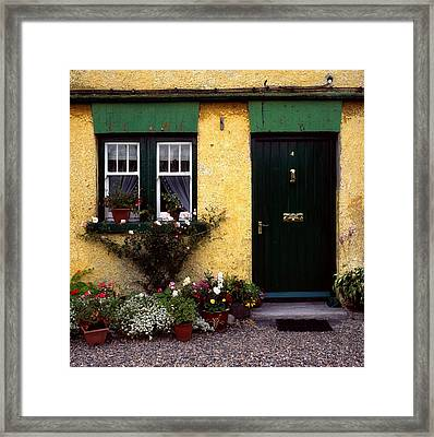 Cottage At Bushmills, Co Antrim, Ireland Framed Print