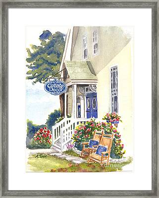 Cottage Decor Framed Print by Andrea Timm