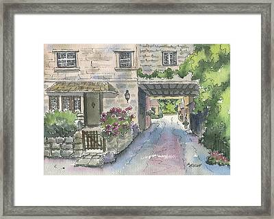 Cottage For Ann Framed Print by Marsha Elliott