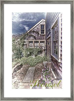 Framed Print featuring the photograph Cottage Garden - 'sconset Nantucket by Jack Torcello