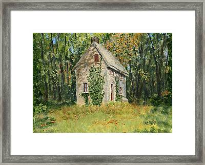 Cottage In The Woods At Fonthill Framed Print