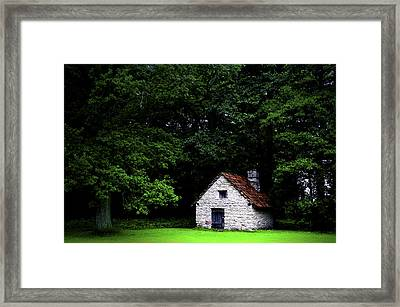 Cottage In The Woods Framed Print