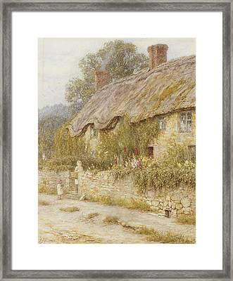 Cottage Near Wells Somerset Framed Print by Helen Allingham