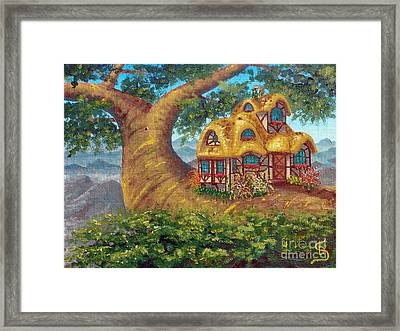 Cottage On A Branch From Arboregal Framed Print by Dumitru Sandru