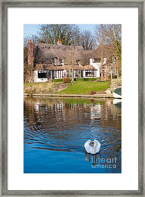 Cottage On The River Framed Print by Andrew  Michael