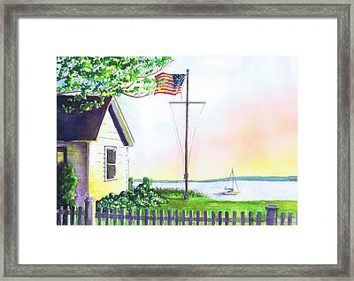 Cottage Orient Ny Framed Print