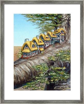 Cottage Row From Arboregal Framed Print