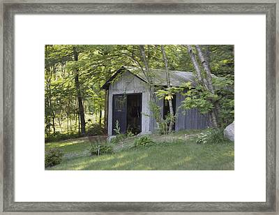 Cottage Shed Framed Print by Michel DesRoches