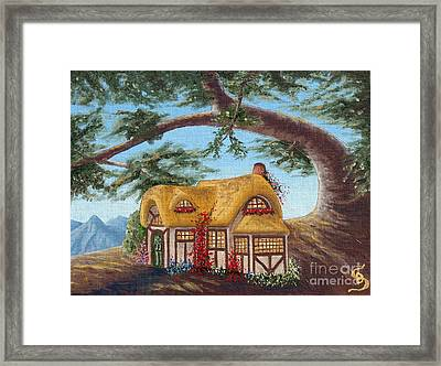Cottage Under A Branch From Arboregal Framed Print