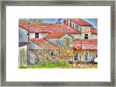 Cotton Barn 003 Framed Print by Barry Jones