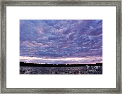Cotton Candy Clouds Framed Print by Jill Hyland