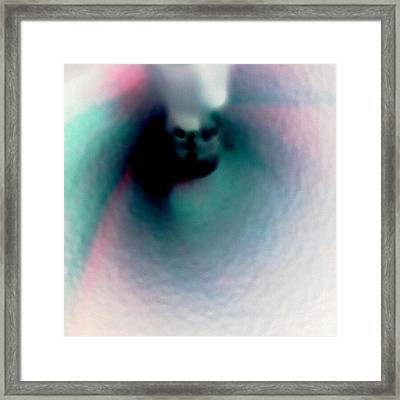 Cotton Candy Skull Framed Print
