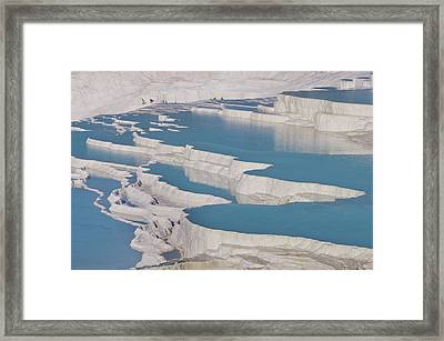 Cotton Castle In Turkey Framed Print by Ayhan Altun