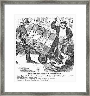 Cotton Loan Cartoon, 1865 Framed Print