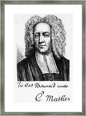 Cotton Mather 1663-1728 Framed Print