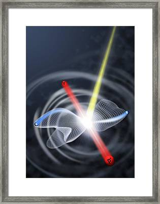 Coulomb Explosion Simulation Framed Print by Lawrence Berkeley National Laboratory