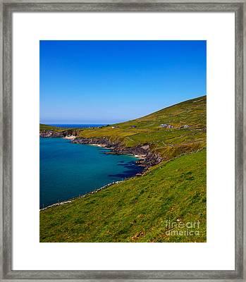 Coumeenole Beach And Coast Of Dingle Peninsula Framed Print by Gabriela Insuratelu
