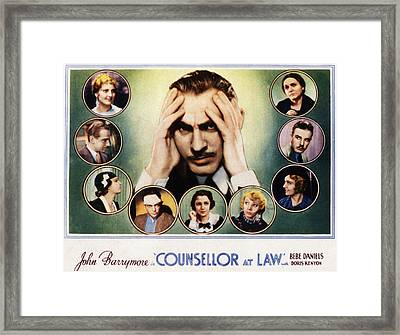 Counsellor At Law, Center John Framed Print by Everett