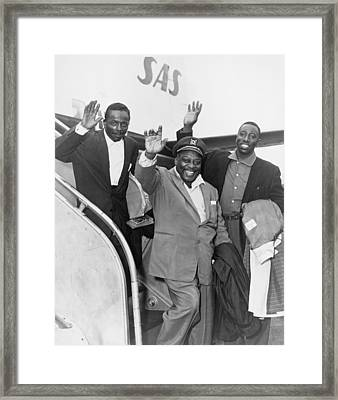 Count Basie 1904-1984 And Count Basie Framed Print by Everett