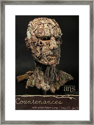 Countenances Exhibition Poster By Adam Long Framed Print