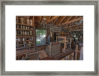 Counter Of Old West General Store - Montana Framed Print by Daniel Hagerman