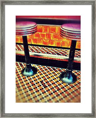 Counter View Framed Print by Olivier Calas