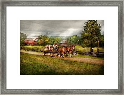 Country - Horse - Life's Pleasures Framed Print by Mike Savad