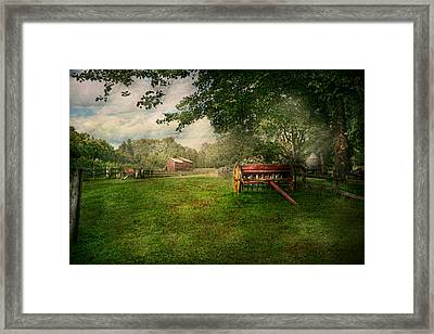 Country - The Crops Almost Ready  Framed Print by Mike Savad