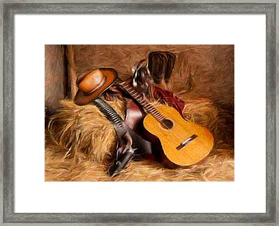 Country And Western Painting Framed Print by Peter G Dobson