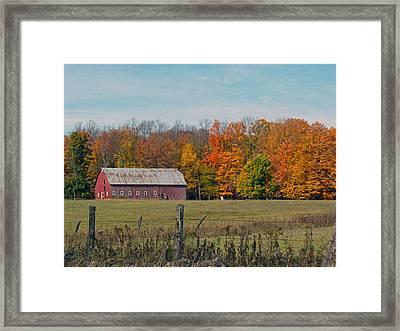 Country Barn Framed Print by Christine Hafeman