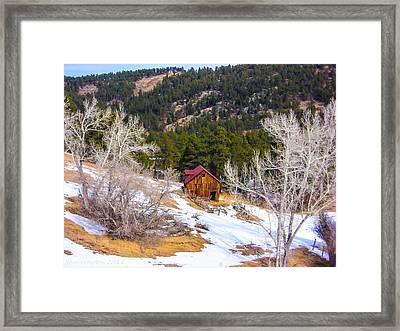 Framed Print featuring the photograph Country Barn by Shannon Harrington