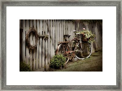 Framed Print featuring the photograph Country Bike by Michelle Joseph-Long
