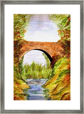 Country Bridge Framed Print