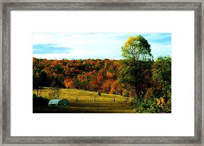 Country Camping Framed Print