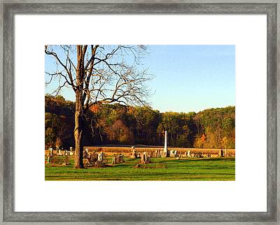 Country Cemetery Framed Print by Mike Stanfield